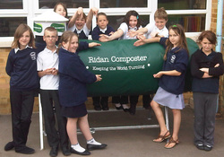 Ridan Composter arrives at School